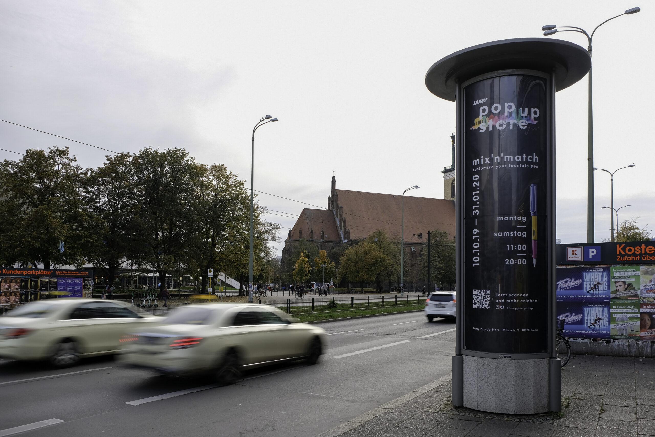 Buero-Uno_Experimential_Marketing_Pop-Up_Muenchen_Berlin_Project_Lamy_citylight_alexanderplatz